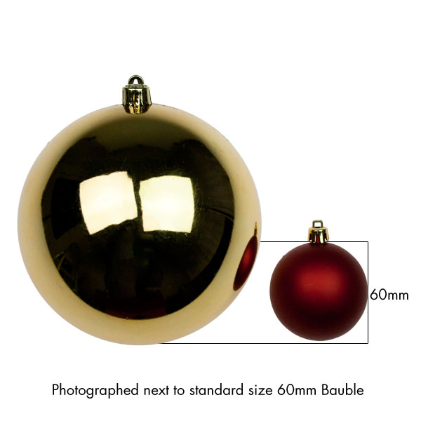 Gold Baubles - Shatterproof - Single 140mm