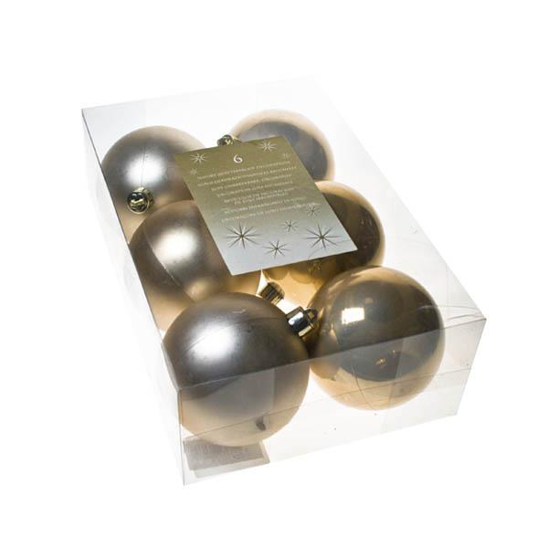 Pearl Shatterproof Baubles - 6 x 80mm
