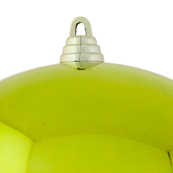 Lime Green Baubles Shiny Shatterproof - Single 250mm