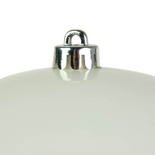 White Baubles Shiny Shatterproof - Single 300mm