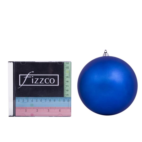 Blue Shatterproof Baubles  - Pack of 4 x 140mm Matt