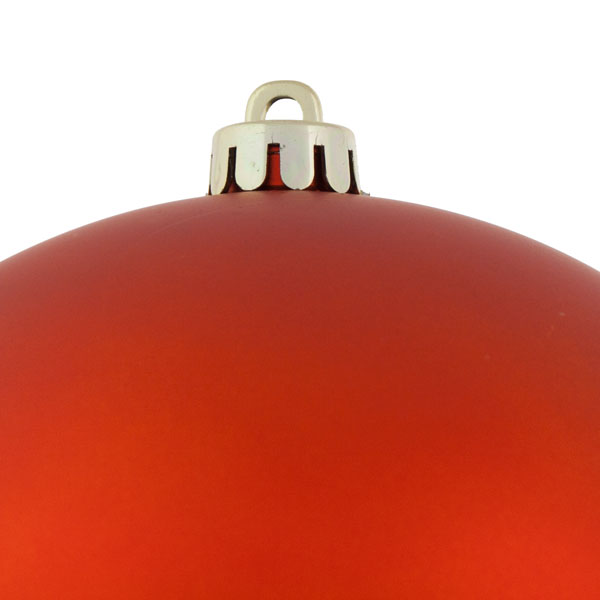 Copper Orange Shatterproof Baubles  - Single 200mm Matt