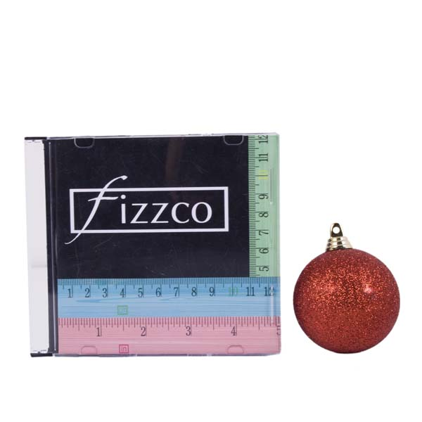 Xmas Baubles - Pack of 18 x 60mm Red Glitter Shatterproof (021-14913-060-RD)