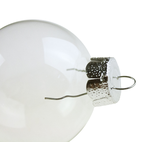 Tub Of Clear Glass Baubles - 10 X 60mm