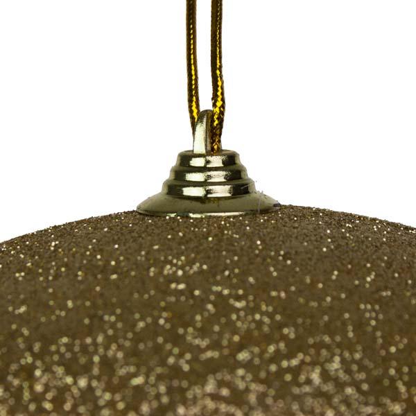 Gold Shatterproof Glitter Bauble - 250mm