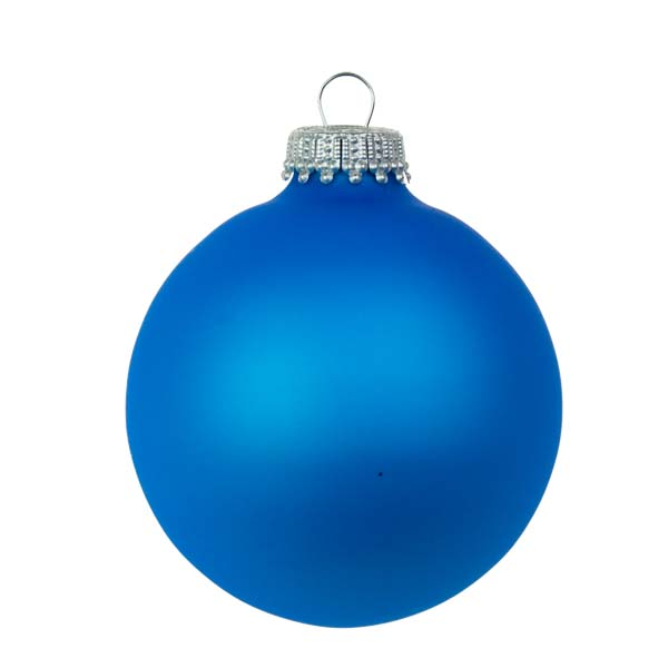 Krebs Neon Blue Glass Baubles 6 X 67mm Christmas Time Uk