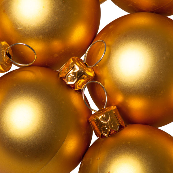 Luxury Gold Satin Finish Shatterproof Baubles - Pack of 18 x 40mm