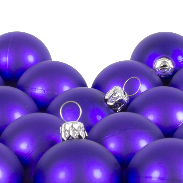 Luxury Purple Satin Finish Shatterproof Baubles - Pack of 18 x 40mm