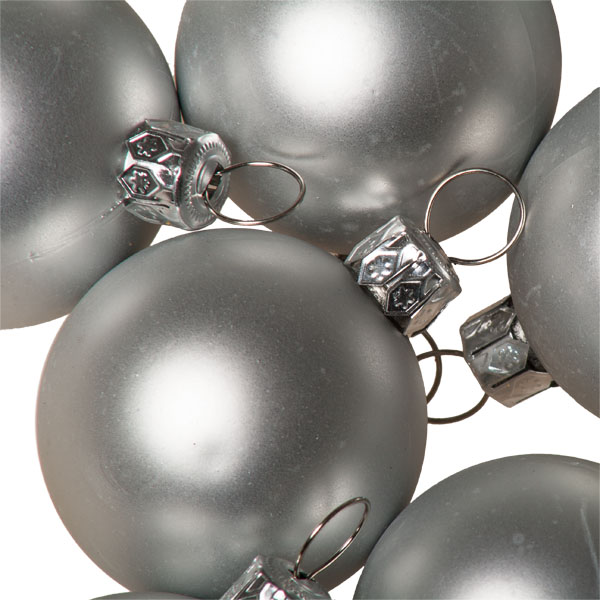 Luxury Silver Satin Finish Shatterproof Baubles - Pack of 18 x 40mm