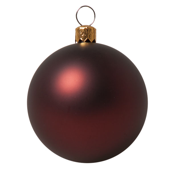 Luxury Burgundy Satin Finish Shatterproof Baubles - Pack of 18 x 60mm