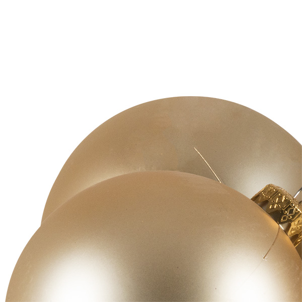 Luxury Champagne Gold Satin Finish Shatterproof Baubles - Pack of 4 x 100mm