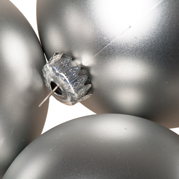 Luxury Silver Satin Finish Shatterproof Baubles - Pack of 4 x 100mm