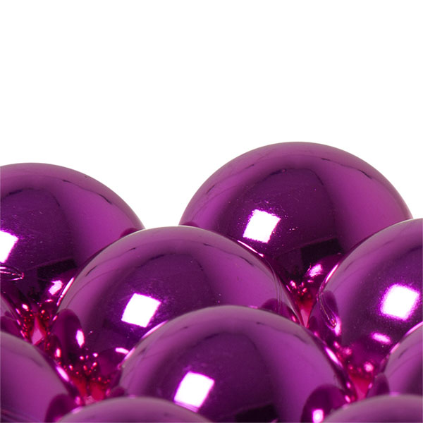 Luxury Cerise Pink Shiny Finish Shatterproof Bauble Range - Pack of 18 x 40mm