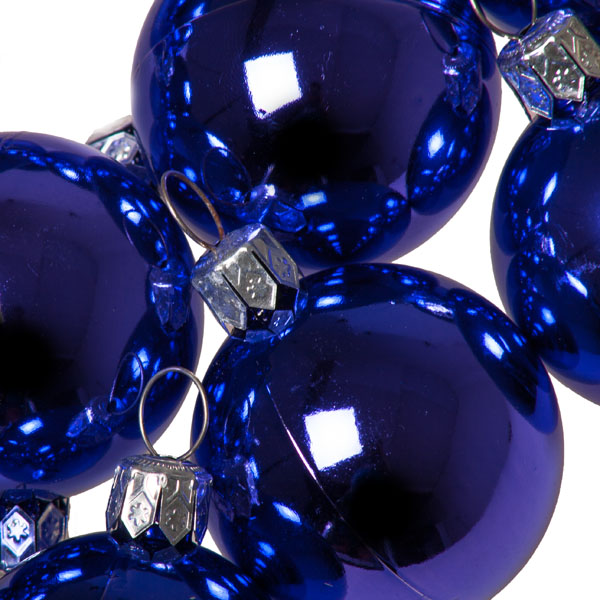 Luxury Purple Shiny Finish Shatterproof Bauble Range - Pack of 18 x 40mm