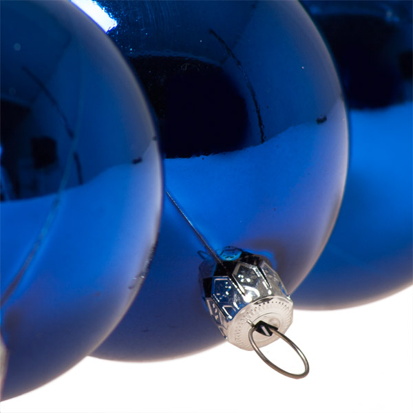 Luxury Electric Blue Shiny Finish Shatterproof Bauble Range - Pack of 18 x 60mm