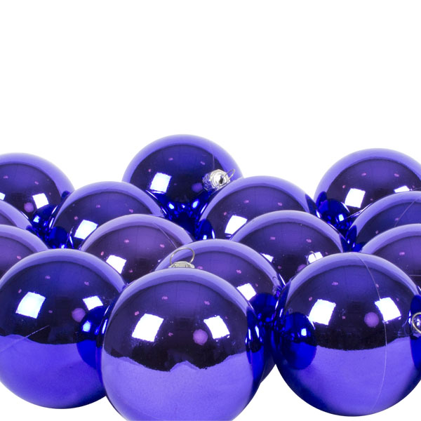 Luxury Purple Shiny Finish Shatterproof Bauble Range - Pack of 18 x 60mm