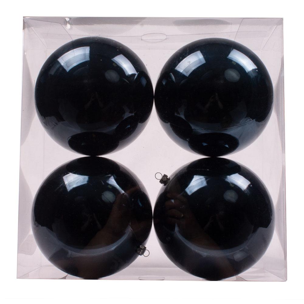 Luxury Dark Blue Shiny Finish Shatterproof Bauble Range - Pack of 4 x 140mm