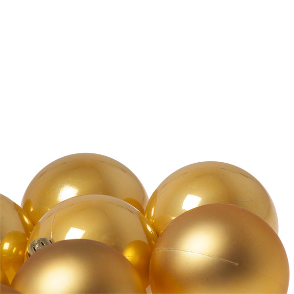 Antique Gold Fashion Trend Shatterproof Baubles - Pack Of 12 x 60mm