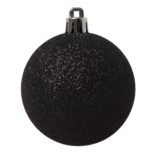 Black Mixed Finish Shatterproof Baubles - 24 X 60mm