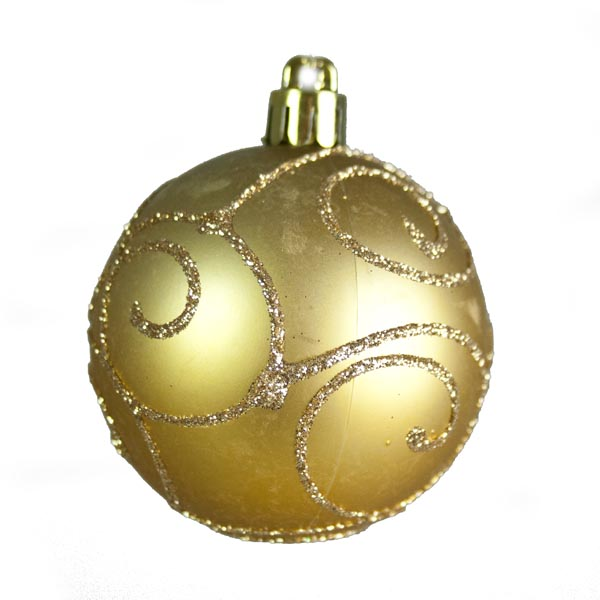 Gold Mixed Finish Shatterproof Baubles - 24 X 60mm