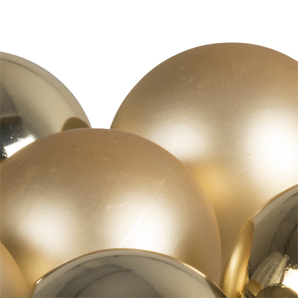 Tubes Of 10 X 60mm Gold Baubles - Mixed Matt And Shiny