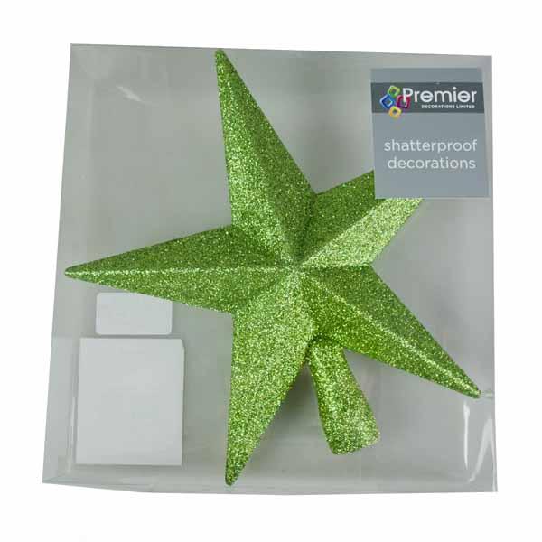 Green Glitter Finish Tree Top Star -20cm