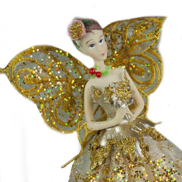 Champagne Gold Angel Tree Topper - 23cm