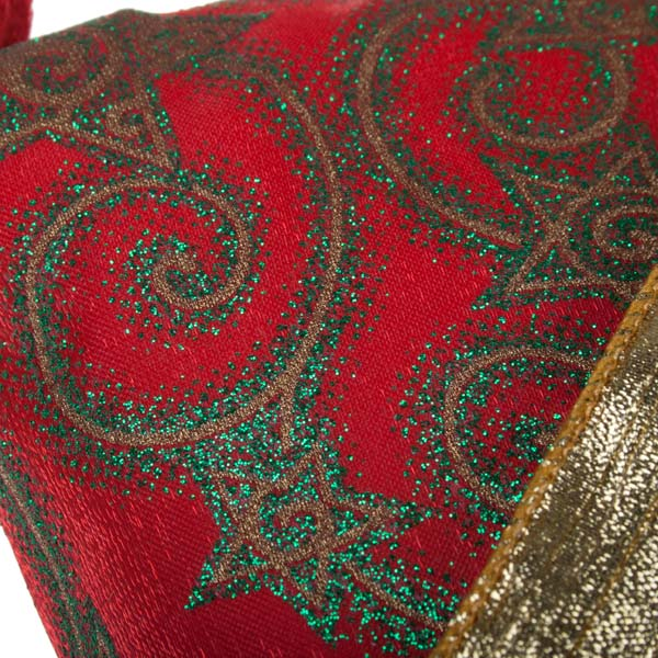 Red, Green & Gold Traditional Stocking - 30cm X 50cm (050-17953)