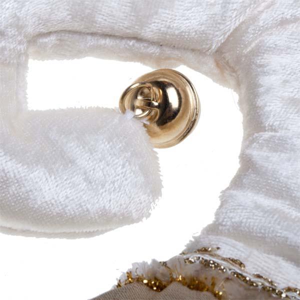 Luxury Gold & Ivory Fabric Stocking - 30cm X 62cm
