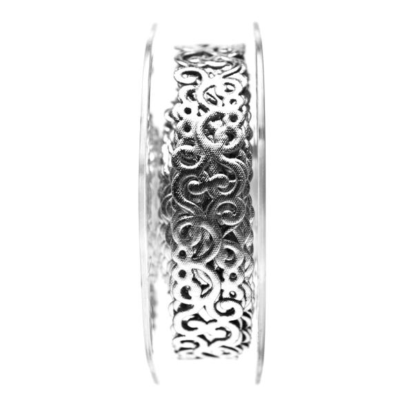 Self Adhesive Metallic Silver Filigree Swirl Ribbon - 9m x 18mm