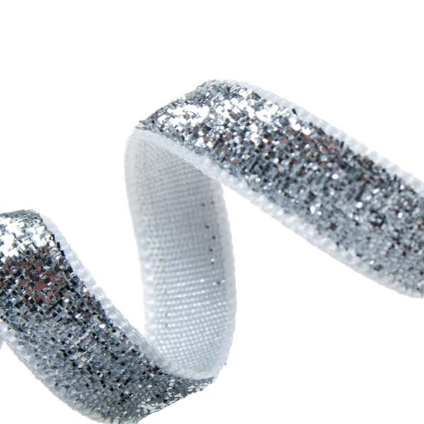 Gisela Graham Silver Sparkle Ribbon - 3m (063-19349-SL)