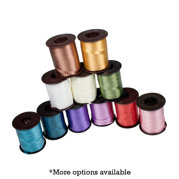 Plum Purple Poly Plain Ribbon -25m x 10mm