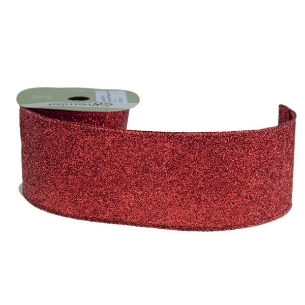 Red Glitter Ribbon - 6cm x 2.7m