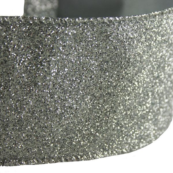 Silver Glitter Ribbon - 6cm x 2.7m