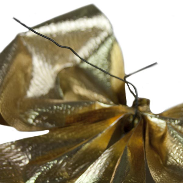 Antique Gold Metallic Bow Decoration - 15cm