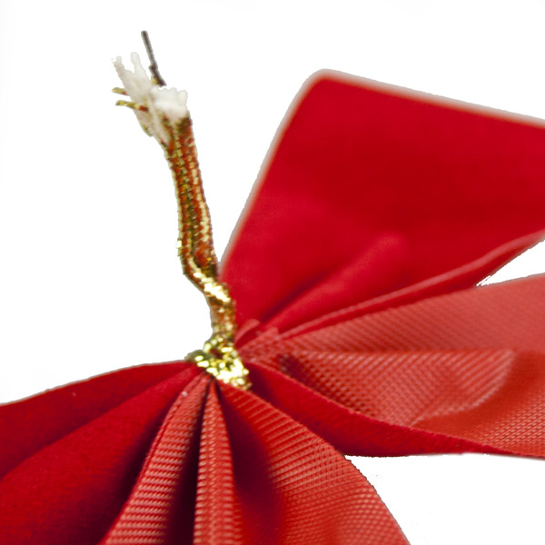 Pack Of 8 x 15cm Red Velvet Bows (063-26979-15)