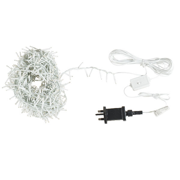 1000 Warm White Treebrights Multi Action LED Fairy Lights On White Cable (110-29026-100-WW)