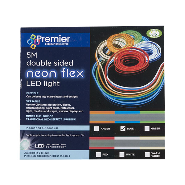 Blue LED Double Sided Neon Flex - 5m