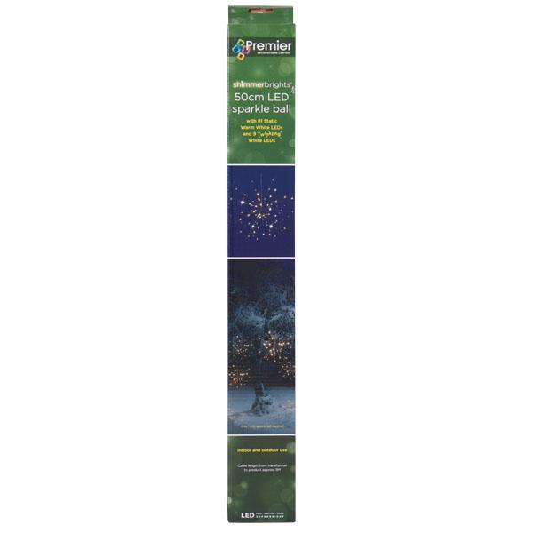 Warm White LED Sparkle Ball Light - 60cm (115-28424-60)