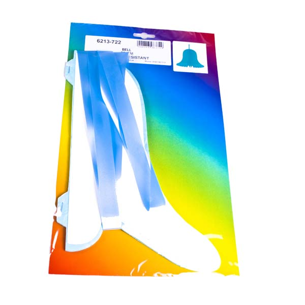 Turquoise Flame Resistant Honeycomb Paper Bell - 30cm