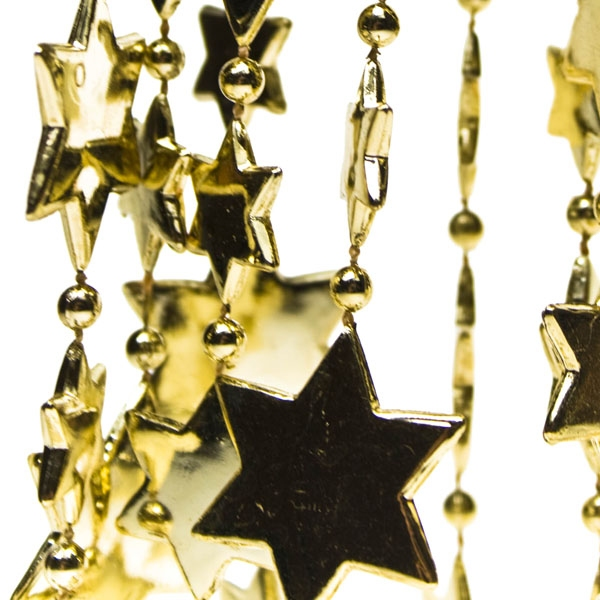 Gold Star Bead Garland - 2.7m