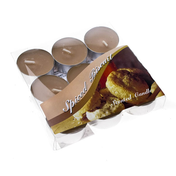 Spiced Biscuit Scented Tealight Candles x 9