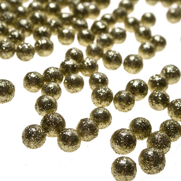 Glittered Ball Table Scatter - Gold 0.7cm