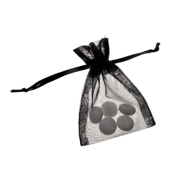Black Organza Favour Bag - 3 X 4 Inch