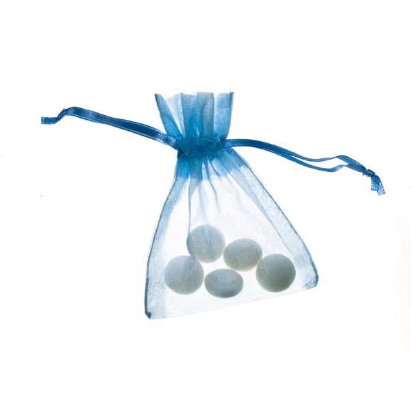 Light Blue Organza Favour Bag - 3 X 4 Inch