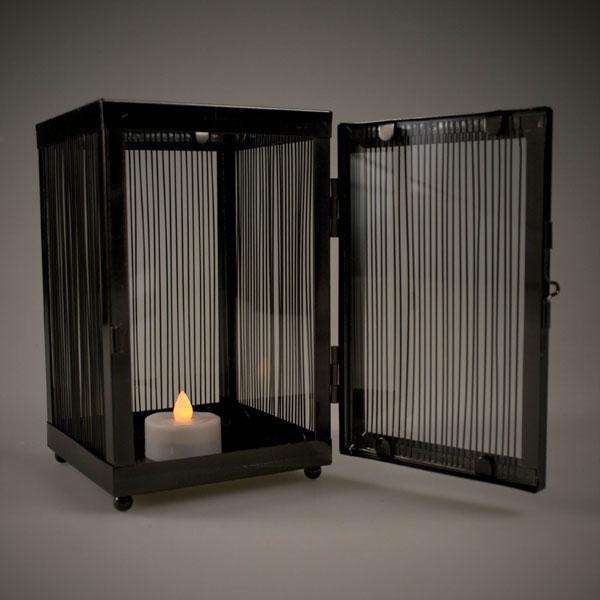 Square Candle Lantern - 17cm