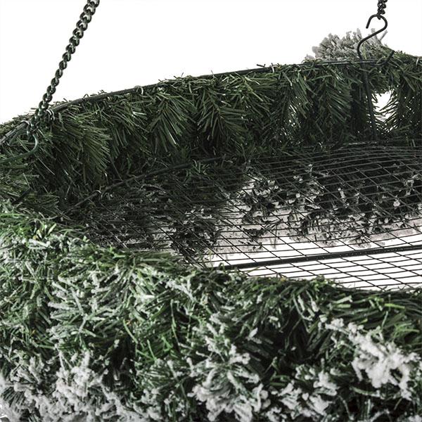 Flocked Round Flame Retardant Hanging Display Wreath - 1.2m