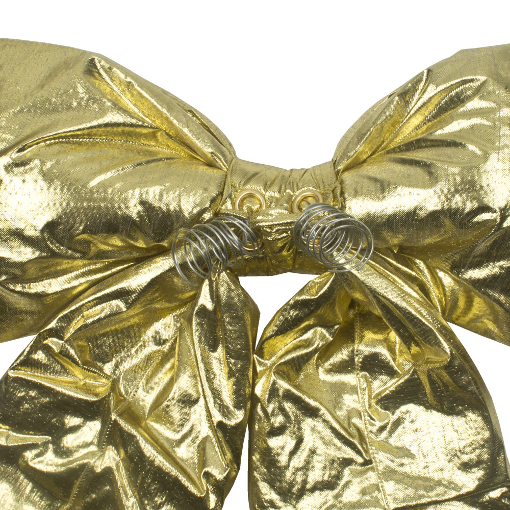 Gold Metallic Display Bow - 30cm