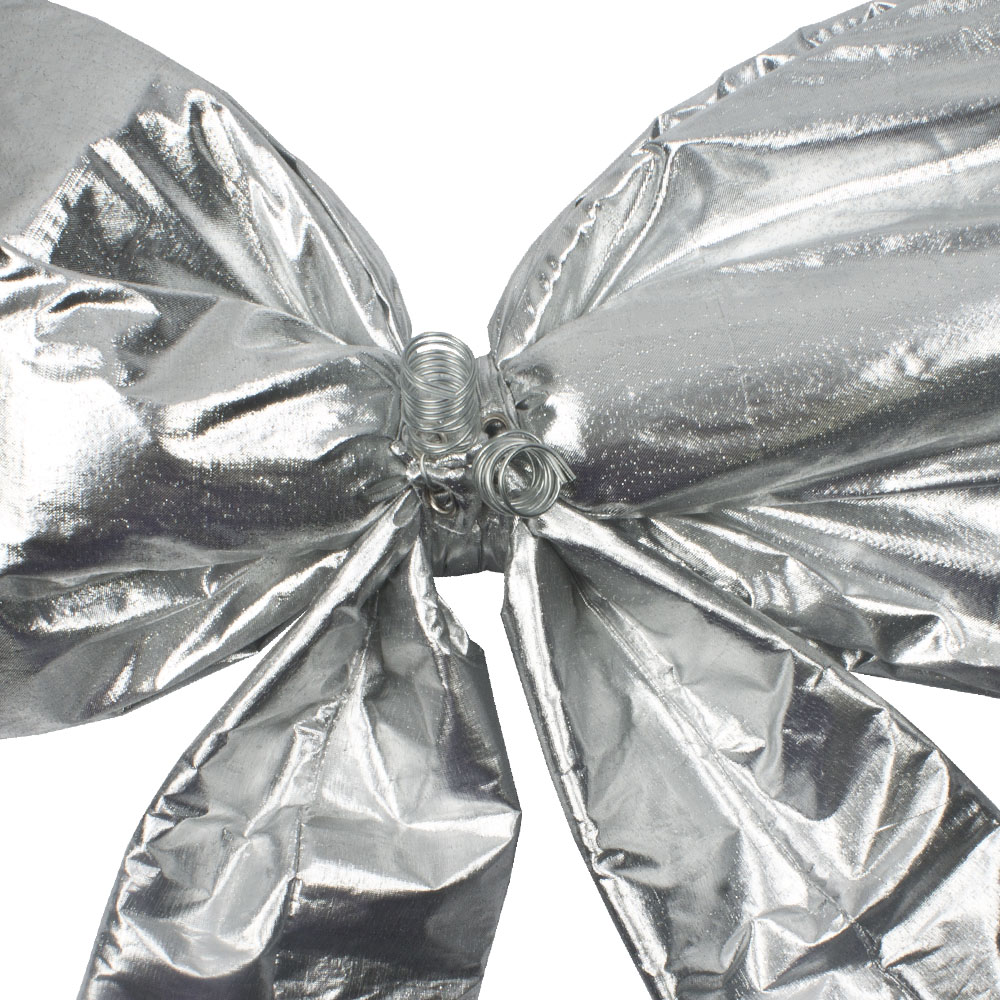 Silver Metallic Display Bow - 30cm