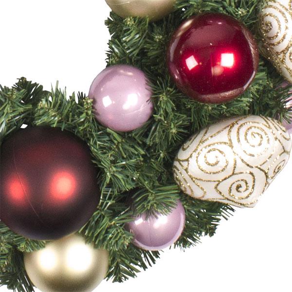 Vintage Pearl Theme Range - 60cm Pre-Decorated Wreath